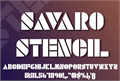 Illustration of font SAVARO STENCIL