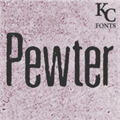 Illustration of font Pewter