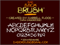 Illustration of font Mad Stick Brush