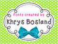 Illustration of font KBPush