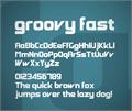 Illustration of font Groovy Fast
