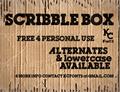 Illustration of font Scribble Box