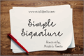Illustration of font Simple Signature