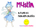 Illustration of font Mystia