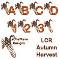 Illustration of font LCR Autumn Harvest