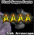 Illustration of font Trek Arrowcaps