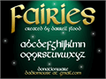Illustration of font Fairies