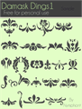 Illustration of font Damask Dings1