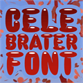 Illustration of font Celebrater PERSONAL USE