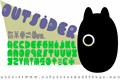 Illustration of font Outsider