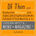 Illustration of font DF Thin