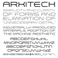Illustration of font Arkitech