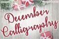 Illustration of font December Calligraphy