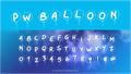 Illustration of font PWBalloon