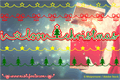 Illustration of font I Love Christmas