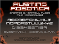 Illustration of font Rusting Robotica