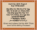 Illustration of font Celtic-Bit