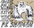 Illustration of font pk shaman