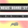 Illustration of font News Board St