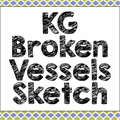 Illustration of font KG Broken Vessels Sketch