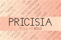Illustration of font Pricisia