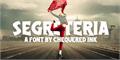 Illustration of font Segreteria