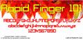 Illustration of font Rapid Finger 101