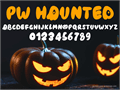 Illustration of font PWHaunted