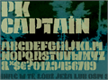 Illustration of font PK Captain