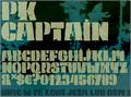 Illustration of font PK Captain