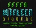 Illustration of font Green Intruder Signage
