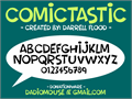 Illustration of font Comictastic