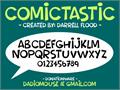 Illustration of font Comictastic
