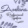 Illustration of font Avelana Bold PERSONAL USE