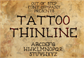 Illustration of font Tattoo Thinline