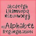 Illustration of font KG Alphabet Regurgitation