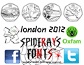 Illustration of font london 2012