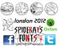 Illustration of font london 2012