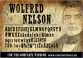 Illustration of font WolfredNelson