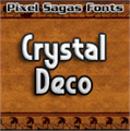 Illustration of font Crystal Deco