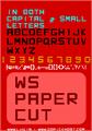 Illustration of font WS Paper Cut