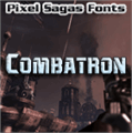 Illustration of font Combatron