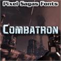 Illustration of font Combatron