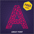 Illustration of font Aroly