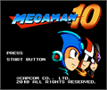 Illustration of font Mega Man 10