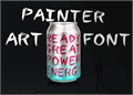 Illustration of font Painter