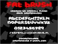 Illustration of font Fat Brush