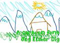 Illustration of font Jeg Elsker Dig