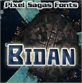 Illustration of font Bidan