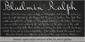 Illustration of font Bluelmin Ralph